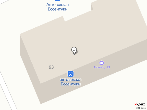 Кавказ на карте Ессентуков