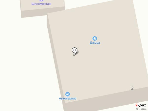 Джуца на карте Ессентукской