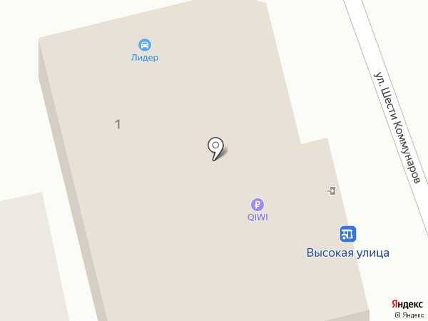 Леман на карте Ессентукской