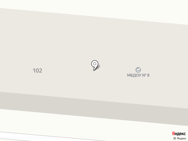 Детский сад №8 на карте Ессентукской