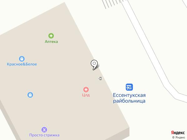 Цифроград на карте Ессентукской