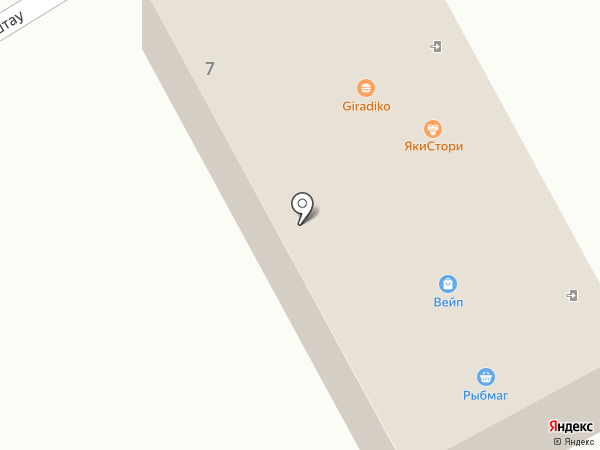 Пироговая на карте Ессентуков