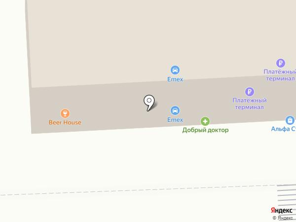 Мясной №1 на карте Ессентуков