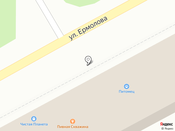 Пивная скважина на карте Ессентуков