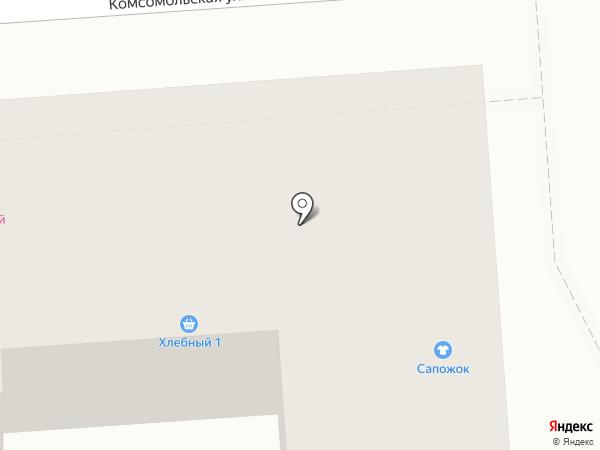 Сапожок на карте Лермонтова
