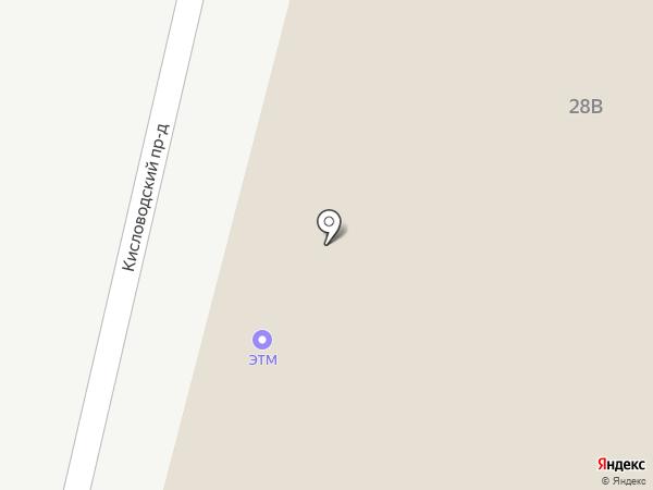 ЭТМ на карте Пятигорска