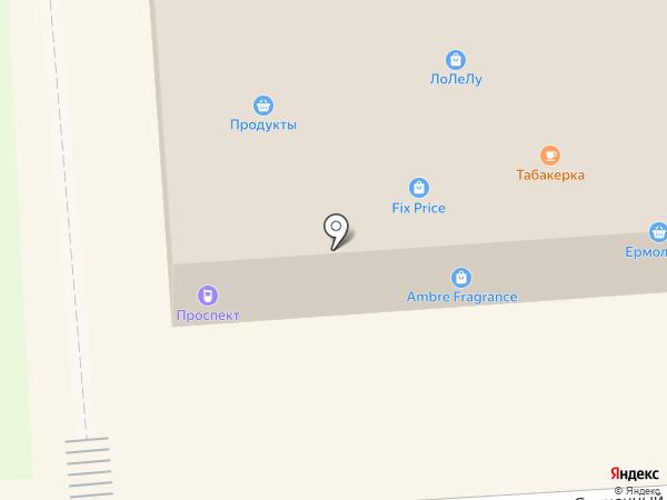 Табакерка на карте Лермонтова