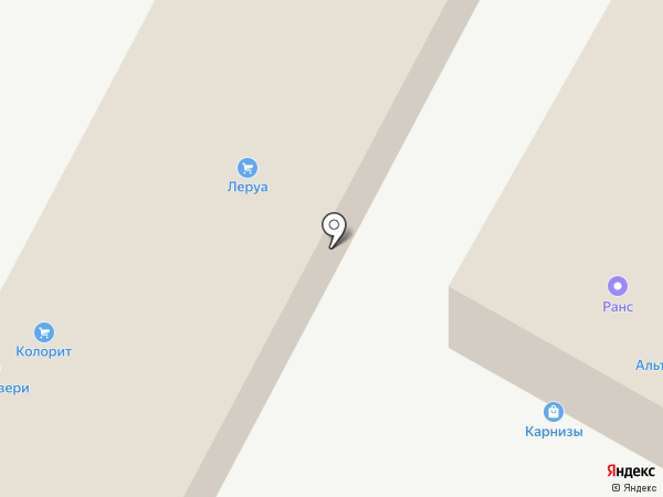 Бау на карте Пятигорска