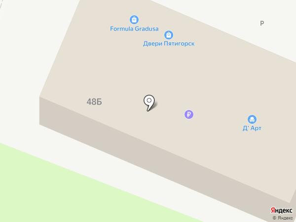 Кавказвент на карте Пятигорска