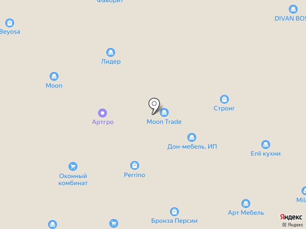 БАС на карте Пятигорска