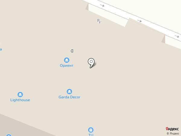 Ориент на карте Пятигорска