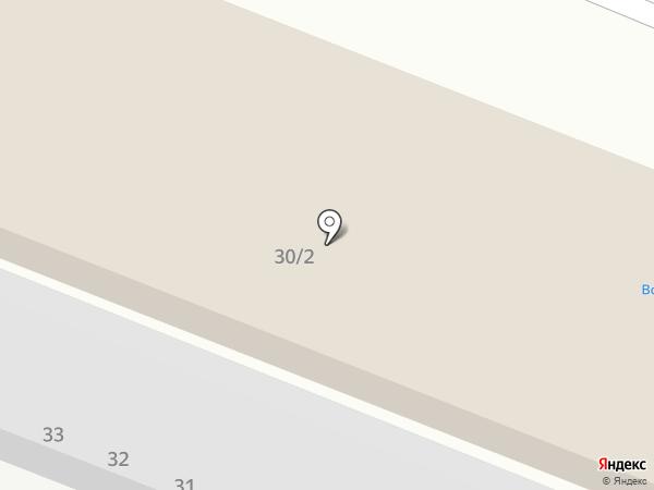 Парадиз на карте Пятигорска