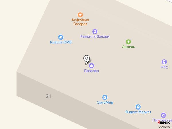 Апрель на карте Железноводска