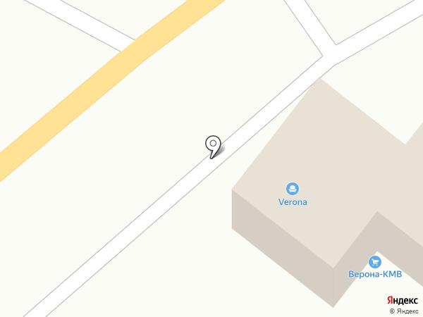 Верона-КМВ на карте Пятигорска