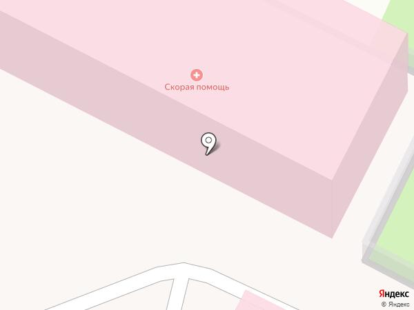 Станция скорой медицинской помощи на карте Железноводска