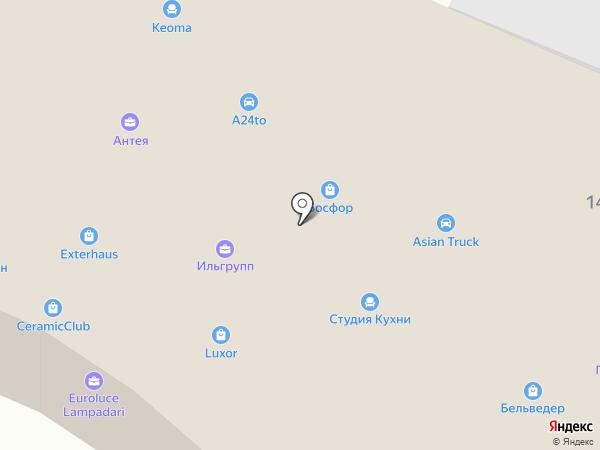 Интерьерная лавка на карте Пятигорска