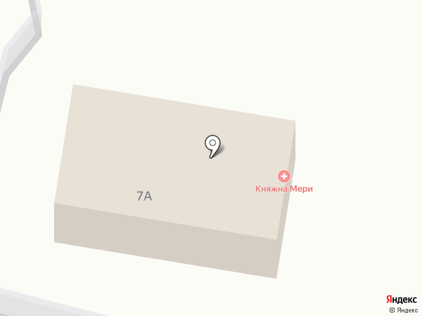 Княжна Мери на карте Железноводска
