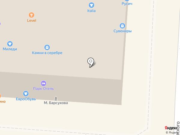 Магазин ювелирных изделий и подарков на карте Железноводска