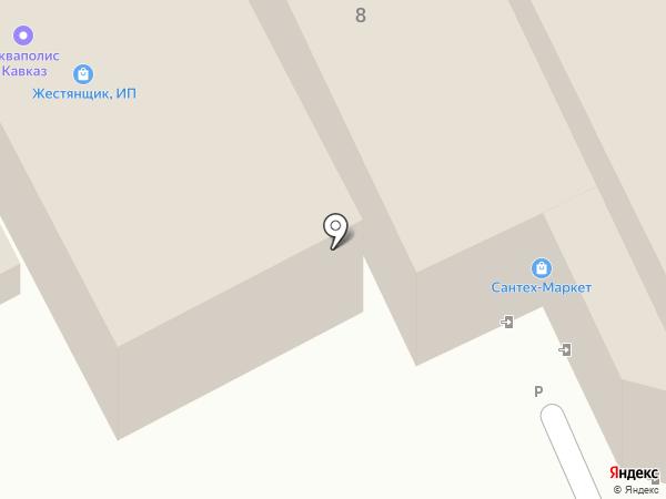 Мегастройсервис на карте Пятигорска