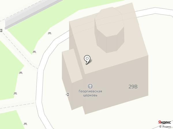 Церковь Георгия Победоносца на карте Пятигорска