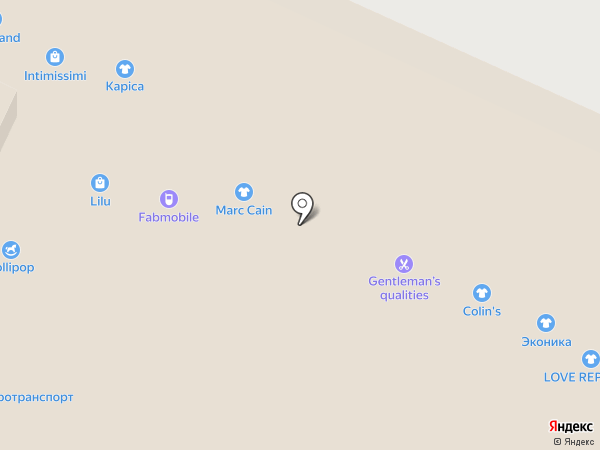 Эконика на карте Пятигорска