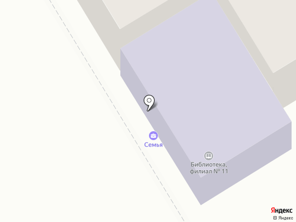 Библиотека №11 на карте Пятигорска