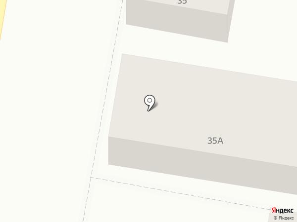 Сауна на ул. Кочубея на карте Пятигорска