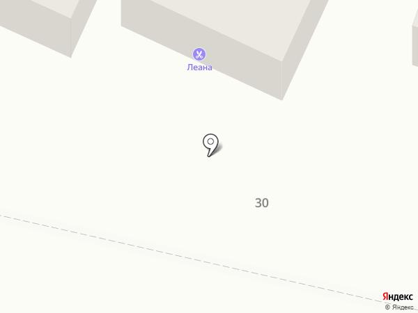 Леана на карте Пятигорска