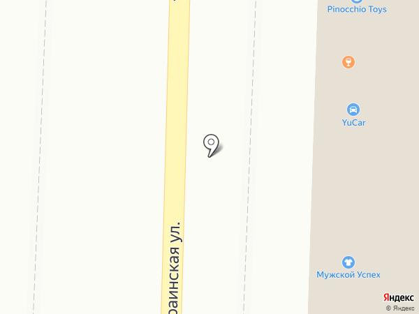 Глянец на карте Пятигорска
