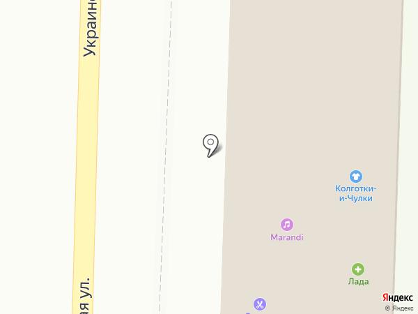 Лада на карте Пятигорска