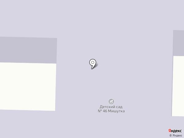 Детский сад №46, Мишутка на карте Пятигорска