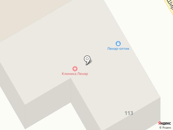 Ленар на карте Пятигорска