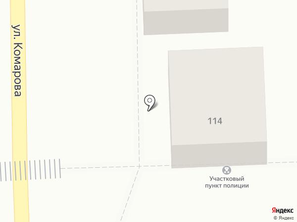 Участковый пункт полиции на карте Пятигорска