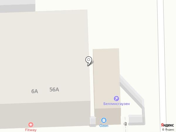 Беллинсгаузен на карте Пятигорска