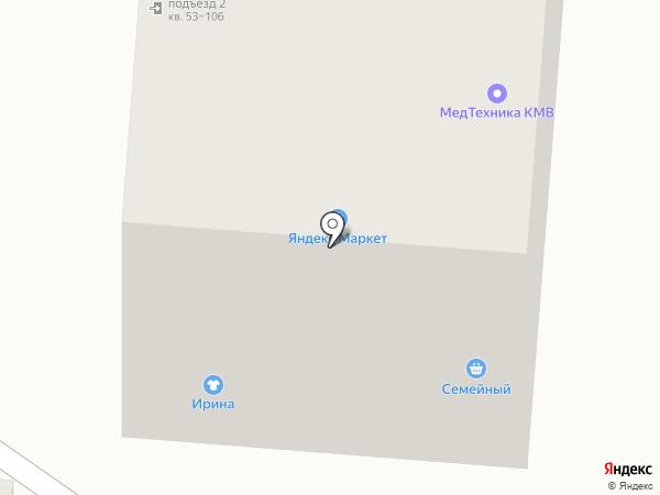 Семейный на карте Пятигорска