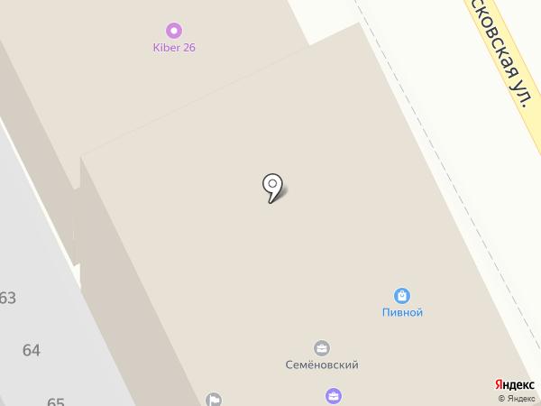 Константа на карте Пятигорска