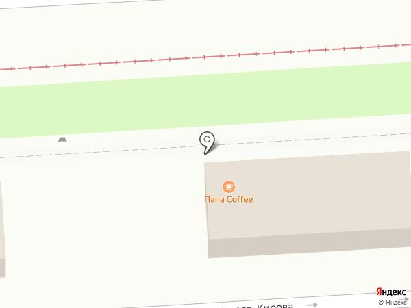 Папа Кофе на карте Пятигорска