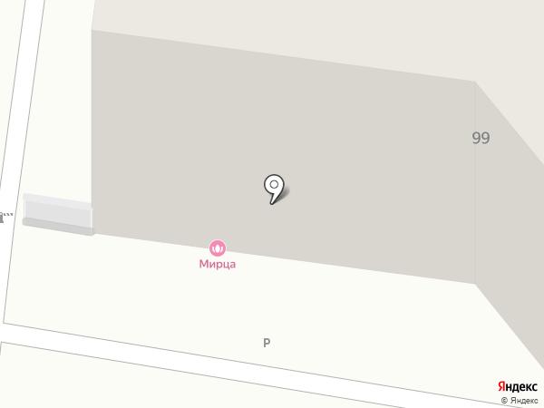 Капелька на карте Пятигорска