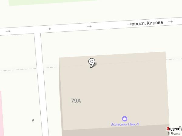 Финанс-Сити на карте Пятигорска