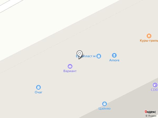 Вариант на карте Пятигорска