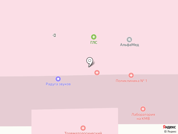Травматологический пункт на карте Пятигорска