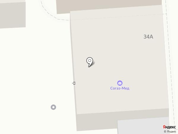Эскулап на карте Пятигорска