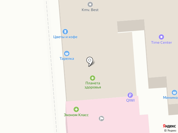 Планета на карте Пятигорска