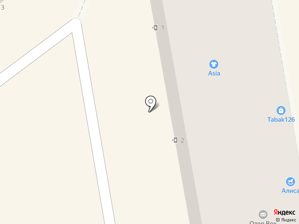 Гардеробчик на карте Пятигорска