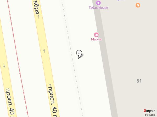 Табакерка на карте Пятигорска