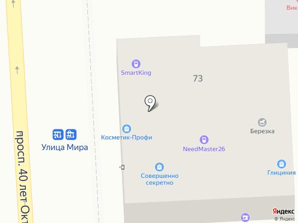 Эрика на карте Пятигорска
