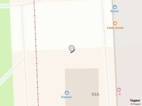 Красотуля на карте Пятигорска
