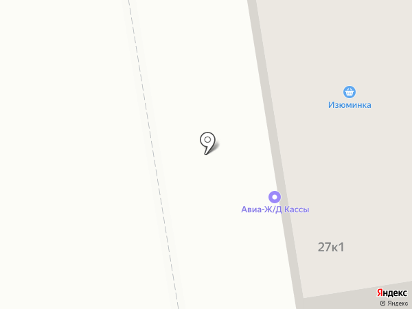 Авиакасса на карте Пятигорска