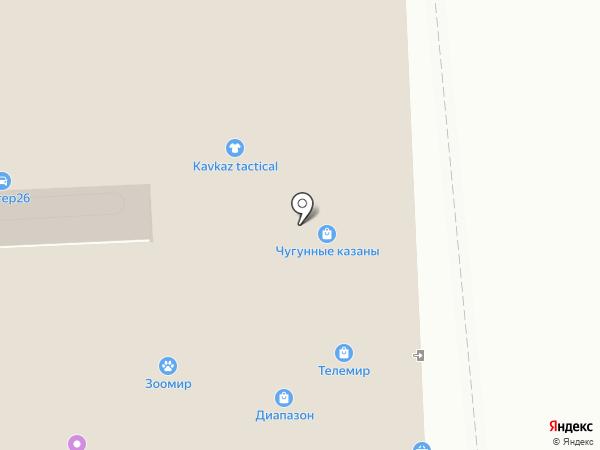 Ласточка на карте Пятигорска