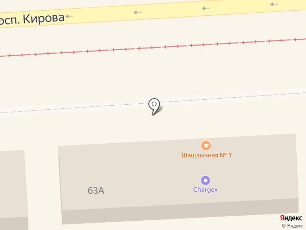 Шашлычная №1 на карте Пятигорска